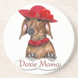 Doxie Mama coaster