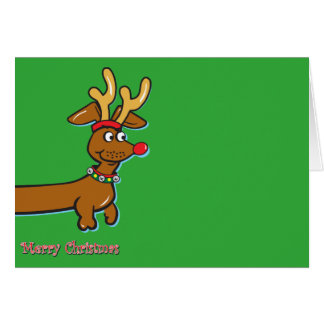 Doxie-Merry-Christmas-all-over-front Card