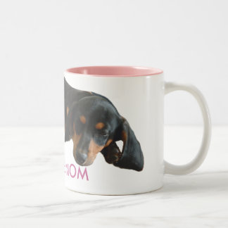 Doxie Mom Sleepy Puppy Mug