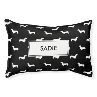 doxie name customized dog bed