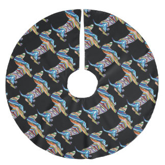 DOXIE-Psych Brushed Polyester Tree Skirt