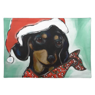 Doxie Santa Placemat