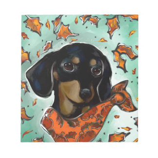 Doxie Thanksgiving Notepad