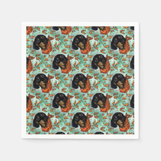 Doxie Thanksgiving Paper Napkin