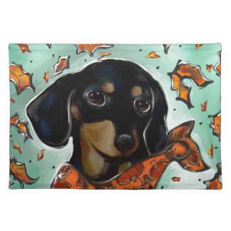 Doxie Thanksgiving Placemat