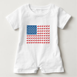 Doxie-USA-FLAG-for-Darks Baby Romper
