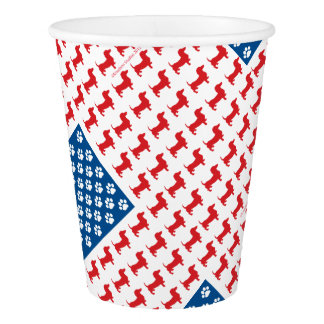 Doxie-USA-FLAG-for-Darks Paper Cup