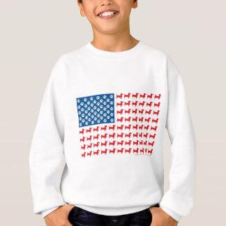 Doxie-USA-FLAG-for-Darks Sweatshirt