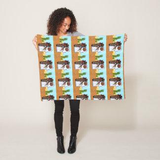 Doxie Wedding Fleece Blanket