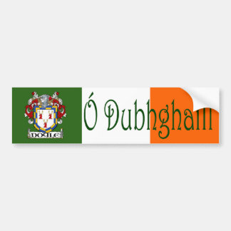 Doyle Clan Irish/English Flag Bumper Sticker