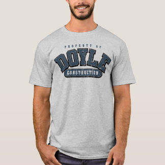 DOYLE CONSTRUCTION, Athletic tee, GRAY BLUE WORN T-Shirt