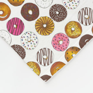 Dozen Donuts Donut Food Breakfast Novelty Blanket