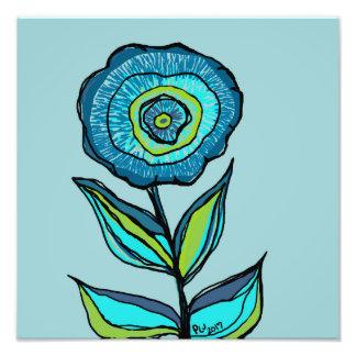 DP178 Single Blue Flower Photo Print