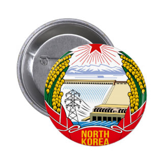 DPRK (North Korea) Emblem 2 Inch Round Button