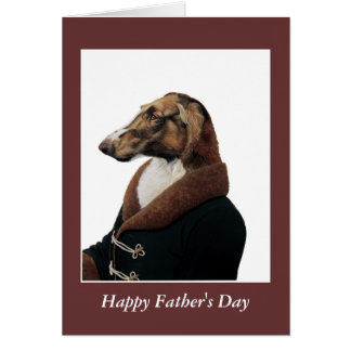 DR133 Borzoi (Russian Hound), Happy Father's Day Card