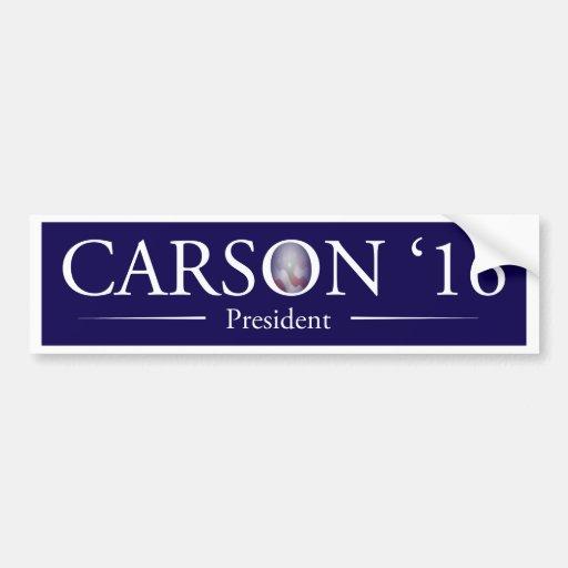 dr ben carson for president bumper sticker zazzle. Black Bedroom Furniture Sets. Home Design Ideas