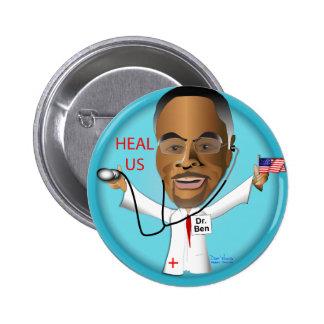 Dr. Ben Heal US 2 Inch Round Button