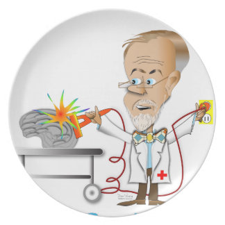 Dr. Braino Party Plates