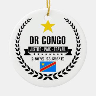 DR Congo Ceramic Ornament