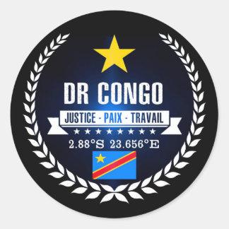 DR Congo Classic Round Sticker