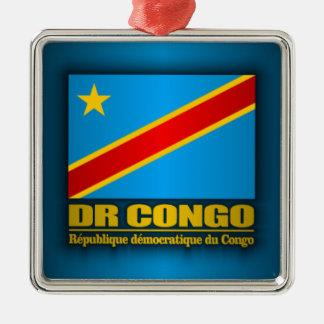 DR Congo Flag Metal Ornament