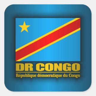 DR Congo Flag Square Sticker
