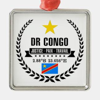 DR Congo Metal Ornament