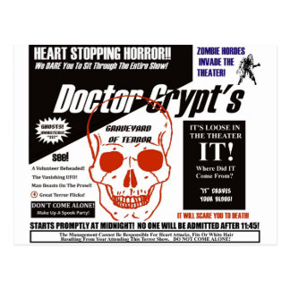 Dr. Crypt's Spook Show Postcard