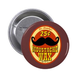 Dr. Dandy's Moustache Wax 2 Inch Round Button