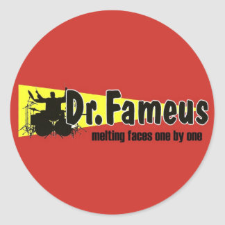 dr.fameus photoshoped 2 copy classic round sticker