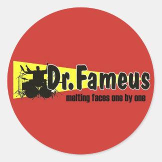 dr.fameus photoshoped 2 copy round sticker