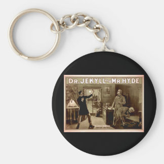 Dr. Jekyll and Mr. Hyde Vintage Illustration 1880s Keychain