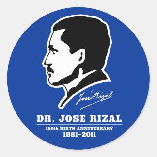 Dr. Jose Rizal @ 150th Birth Anniversary Souvenirs Classic Round Sticker