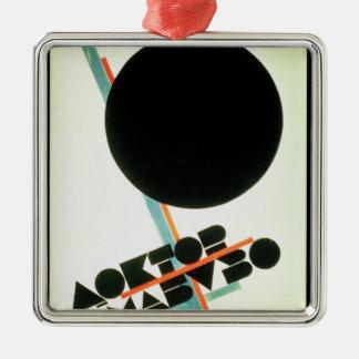 Dr. Mabuso , 1922 Silver-Colored Square Ornament
