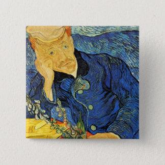 Dr. Paul Gachet Portrait, Vincent Van Gogh 2 Inch Square Button