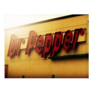 Dr. Pepper Sign Postcard