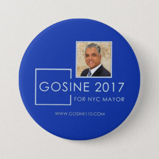 Dr. Robb Gosine for NYC Mayor in 2017 3 Inch Round Button