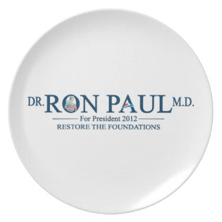 Dr. Ron Paul M.D. For President 2012 Party Plates