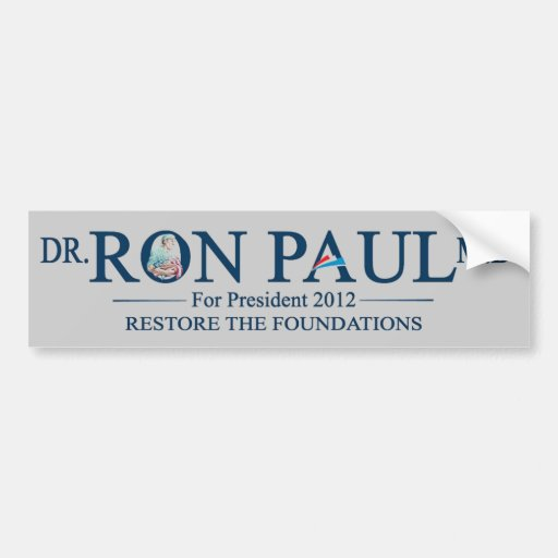 Dr. Ron Paul MD For President 2012 Bumper Stickers