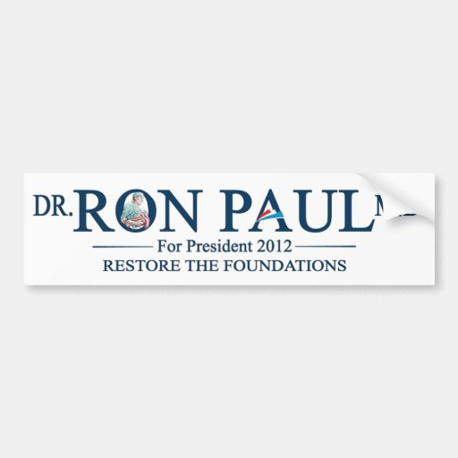 Dr. Ron Paul MD For President 2012 Bumper Sticker