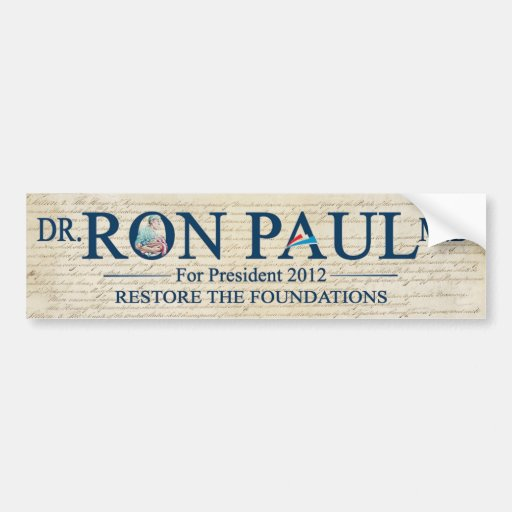 Dr. Ron Paul MD For Prresident 2012 Bumper Sticker
