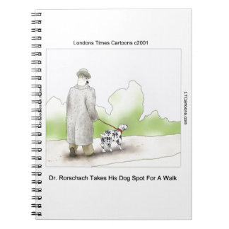 Dr Rorschach Takes Dog Spot 4 A Walk Funny Note Book