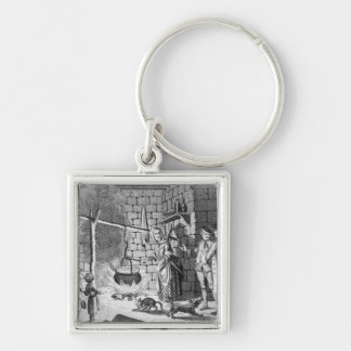 Dr Samuel Johnson's Introduction to a Highland Silver-Colored Square Keychain