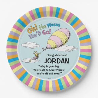 Dr. Seuss | Oh! The Places You'll Go! 9 Inch Paper Plate