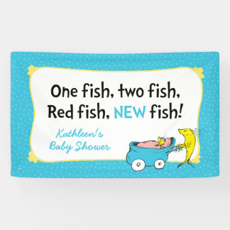 Dr. Seuss | One Fish - Boy Baby Shower Banner