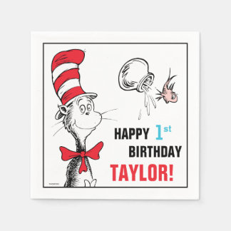 Dr. Seuss | The Cat in the Hat Birthday Paper Napkins
