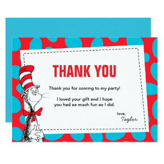 Dr. Seuss | The Cat in the Hat Birthday Thank You Card