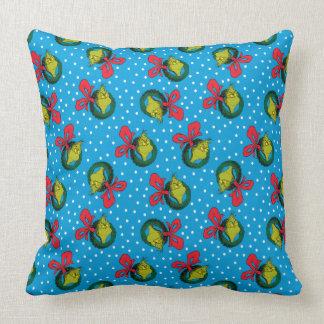 Dr Seuss | The Grinch | Christmas Wreath Pattern Throw Pillow