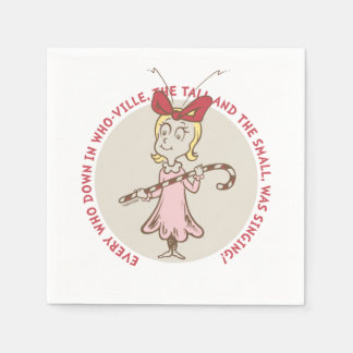 Dr Seuss | The Grinch | Cindy Lou Who - Cute Quote Paper Napkin