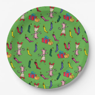 Dr Seuss | The Grinch | Cindy Lou Who Pattern Paper Plate